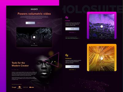 Arcturus Studio - HoloSuite Website Design dark ui video user interface madewithxd vector ux ui web design branding