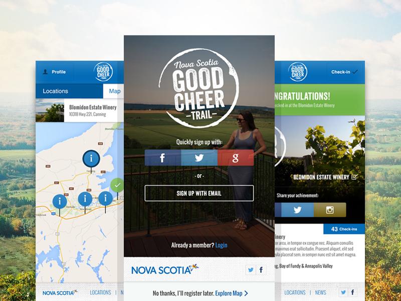 Good Cheer Trail mobile ux ui craft beer web app app web design wine