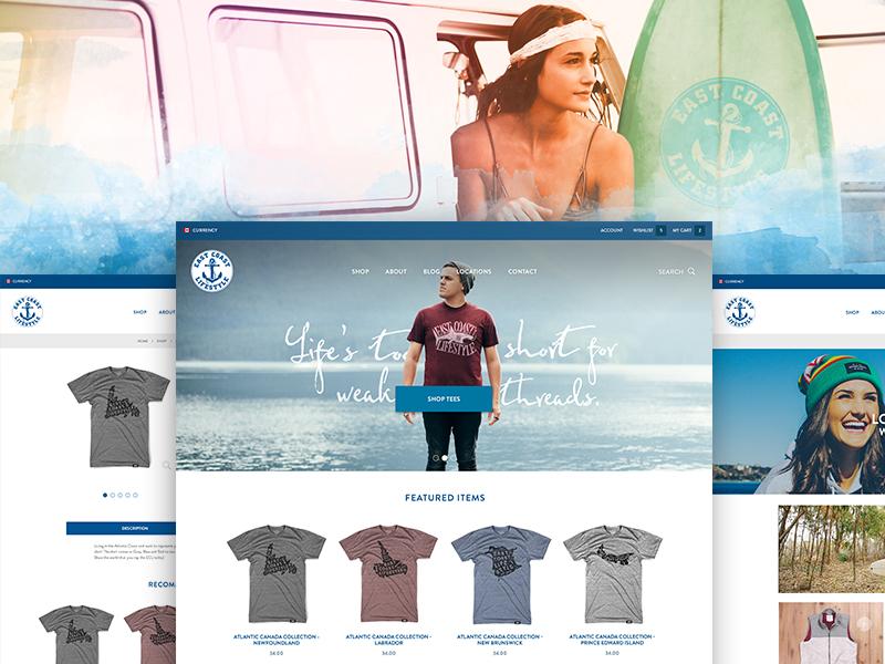 ECL - Commerce Store east coast drupal ecommerce clothing ui web design