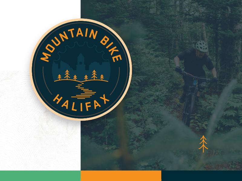 Mountain Bike Halifax outdoor mtb mountain bike retro patch logo design web design branding