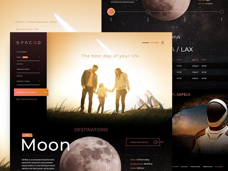 Spaced Challenge - Website epic ux ui logo design web design branding spacedchallenge