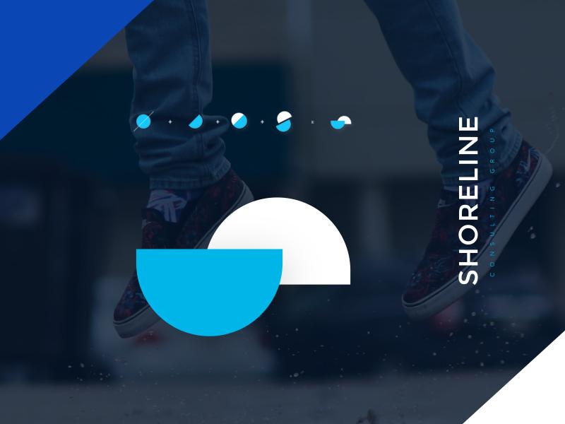 Shoreline Consulting Branding logo design drupal geometric s iconography icon web design ui branding