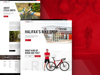 Cyclesmith Website Design