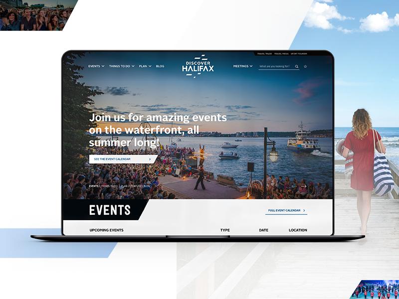 Discover Halifax Website Design madewithxd web design adobe xd events city tourism ux ui branding