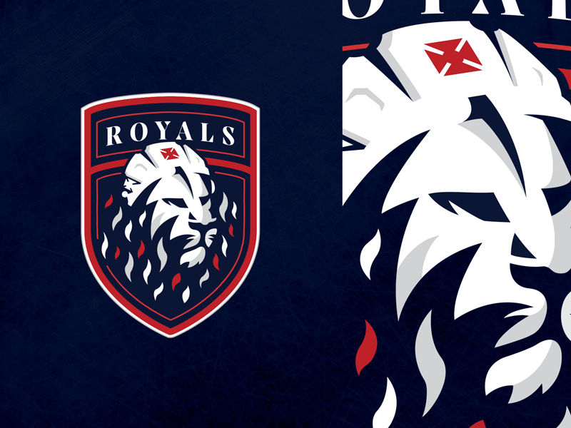 Windsor Royals Hockey Club - Logo w illustration sports logo uniforms hockey jersey crown crest lion branding logo hockey