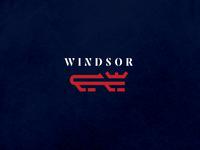 Windsor Royals Hockey Club - Shoulder Patches w line art crown royals lion logo ice hockey hockey logo design branding