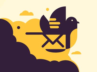 Branding WP Offload SES wordpress developer carrier pigeon pigeon bird wordpress plugin wp wordpress logo design illustration icon logo ui web design branding