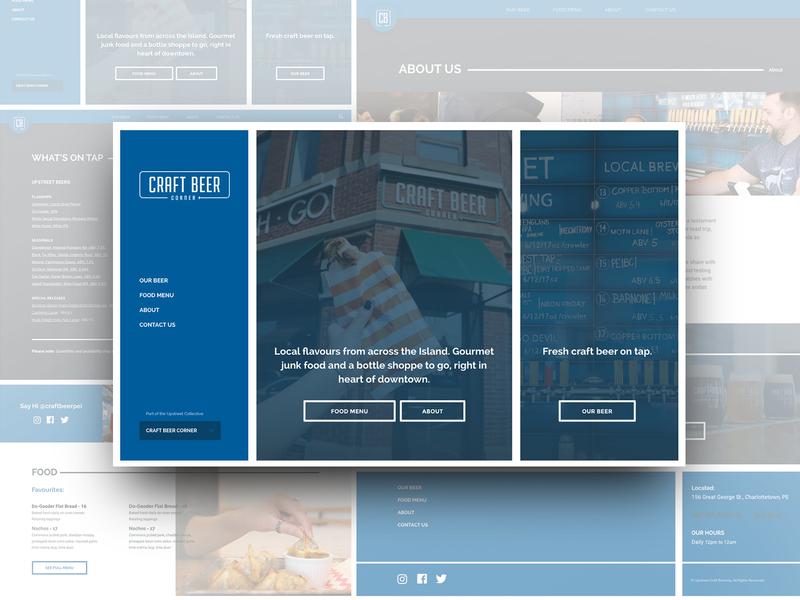 Upstreet Craft Beer Corner - Website Design modular wordpress craft beer beer web ux ui web design branding