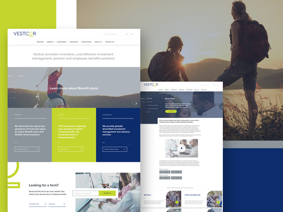 Vestcor - Web Design modular modern family investments wordpress pensions insurance madewithxd web ux ui web design