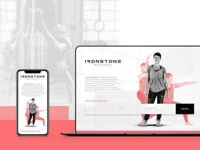 Ironstone Balance  - Landing Page Design