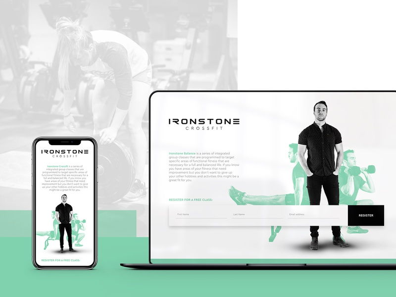 Ironstone Crossfit - Landing Page Design fitness gym crossfit portrait photography web wordpress madewithxd logo ux ui web design branding