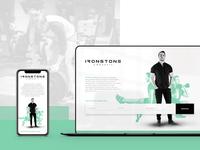 Ironstone Crossfit - Landing Page Design fitness gym crossfit portrait photography web wordpress madewithxd logo ux ui web design branding