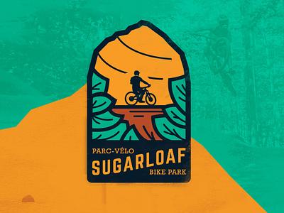 Sugarloaf Bike Park - Branding retro patch park patch bike logo dh mountain biking bike park illustration icon logo branding