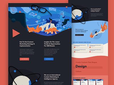 Foundation Marking Website Design content marketing marketing website web vector wordpress madewithxd illustration ux ui web design branding