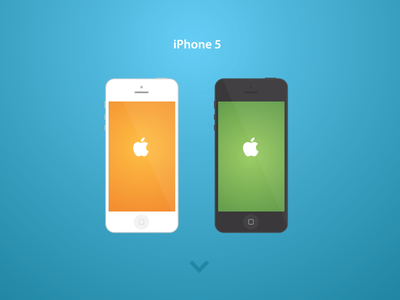 Free iPhone5 Black & White Vector free iphone5 vector resource flat simple .ai
