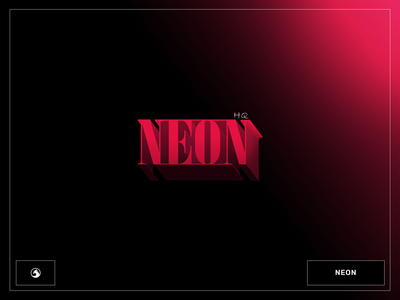 Neon Logo neon branding logo logo design logotype
