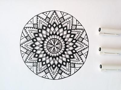 Mandala circles zentagle zenart white mandala lines lineart geometry drawing black doodle centered