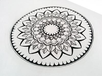 Mandala harmony mandalas lines pure circle geometry ink centered mandalaart zenart mandala