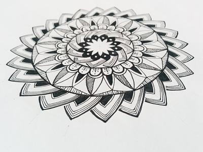 Mandala mandalaart geometry bloom pure circle ink zentagle flower circles zenart centered lines mandala