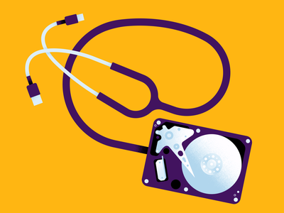 NCSC art direction texture healthcare minimal illustration editorial protect save protection data covid19 crisis hopsital usb drive hard cable stethoscope security cyber