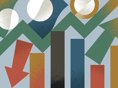 Banking & Finance arrow textures graphic minimal illustration cash coin financial graph finance money banking