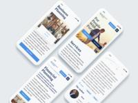 Financial Mobile Website Design