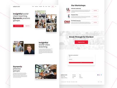 Growth Skills Landing Page landing page teaching coaching user interface typography branding logo website design websites design landingpage content design website ui