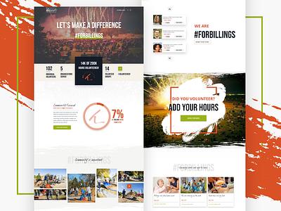 For Billings Volunteer Page graphic volunteering community datavisualization volunteer vector family faith content design website ux user interface design ui