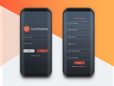 Uwilyees App ui splash screen