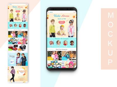 Flipkart Kids App page