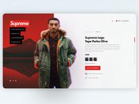 Concept design of Supreme website