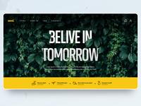 Concept design of planting website