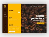 concept design of ups website