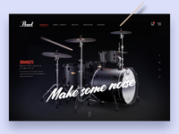 Concept design of drum website