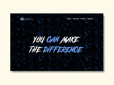 Gaming style website | cscc club website landingpage community club webdesign motivational motivation ui website