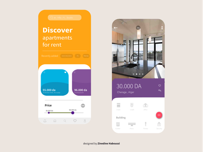 Mobile Application for rent apartments awesome design mobile app mobile ui ui app design ui app uiux website flat app ux branding ui design