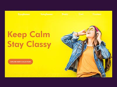 glasees shop ecommerce website glasses fashion design ecommerce web design website web awesome design