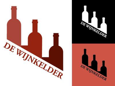 De Wijnkelder wine basement logodesign logo wine