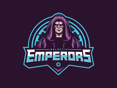 Galactic Emperors logo mascot palpatine empire space dark side star wars sith darth sidious emperor galactic