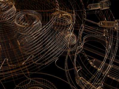 Style frames   C4D   Arnold renderer   2 wireframes 3drender renderings render arnoldrender mechanism watch metal gold c4d cinema 4d 3d