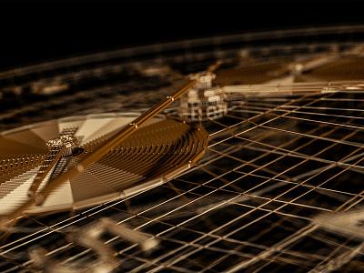 Style frames | C4D | Arnold renderer | 3 3d render wireframe mechanism watch arnoldrender 3drender 3d model metal gold c4d cinema 4d 3d