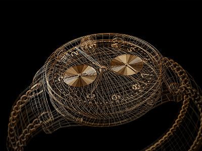 Style frames | C4D | Arnold renderer | 4 renderings render 3d render wireframe watch arnoldrender 3drender 3d model metal gold c4d cinema 4d 3d