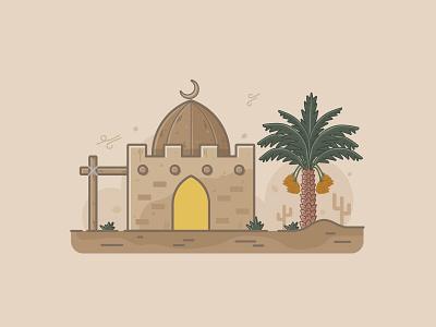 The Desert vectorart vector artwork flatdesigns designer flatdesign designgraphic illustration illustrator
