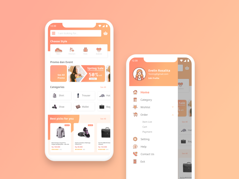 Fashion e commerce for mobile apps by kevin william dribbble for E commerce mobili