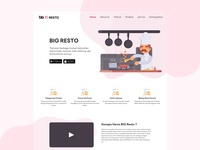 BIG Resto Landing Page