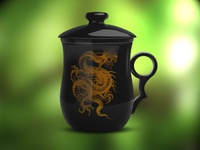 Cup with dragon