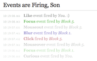 Events are Firing, Son