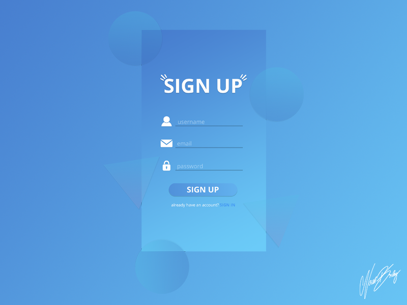 Daily UI 001 | Sign Up