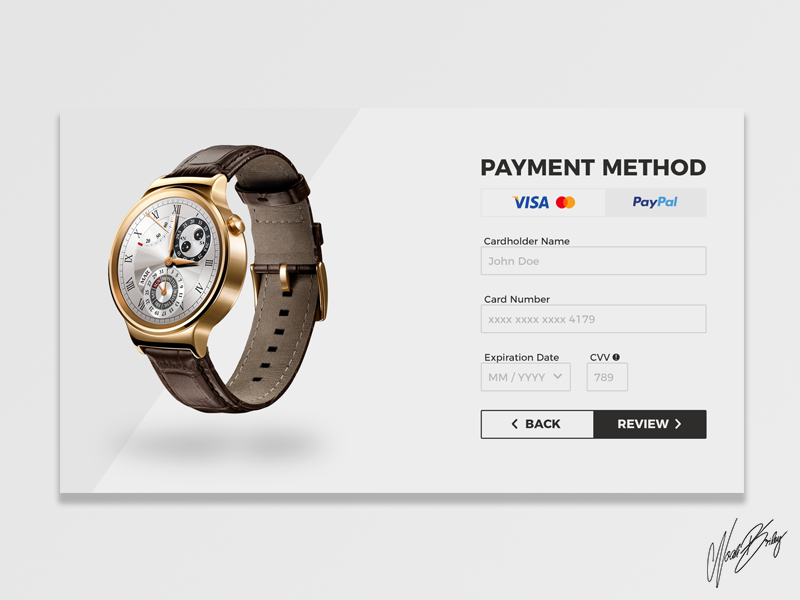 Daily UI #002 | Credit Card Payment
