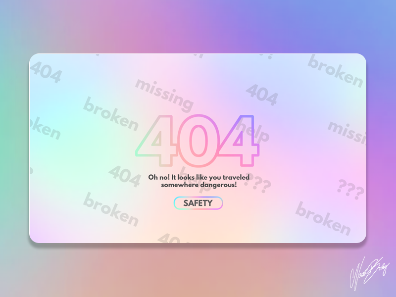 Daily UI 007 | 404 Page